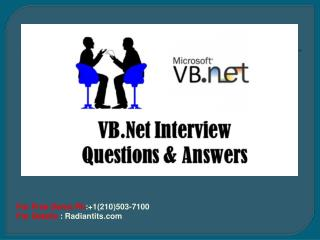 VB.NET Online Training