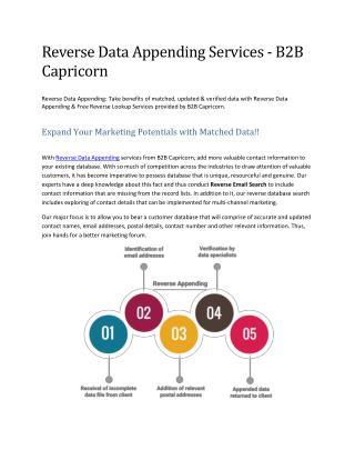 Reverse Data Appending Services - B2B Capricorn
