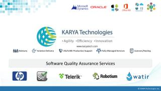 KARYA Technologies' Quality Assurance Services