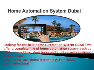 Home Automation System Dubai