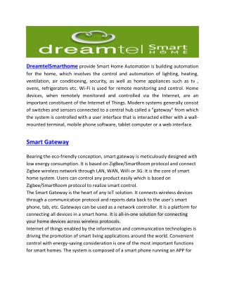 Security for smart home-dreamtelsmarthome