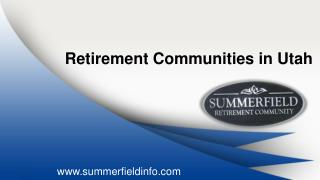 Retirement Communities In Utah | Senior Living Utah