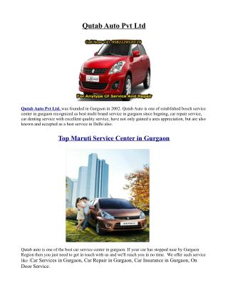 Top Maruti Service Center in Gurgaon