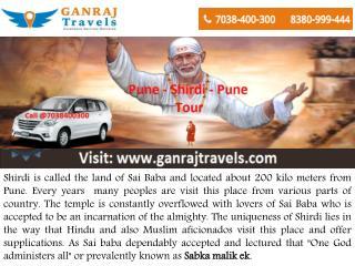 Pune to Shirdi Taxi Service by Ganraj Travels