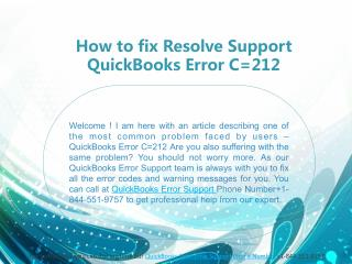 How to fix Resolve Support QuickBooks Error C=212