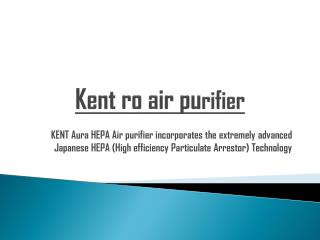 Kent ro air purifier-Germany