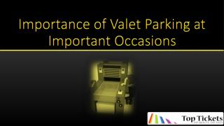 Valet Parking Tickets
