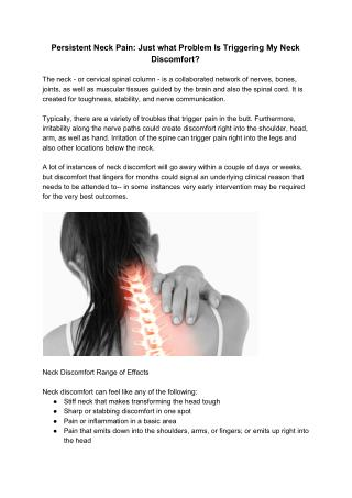 Persistent Neck Pain
