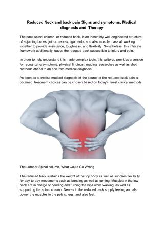 Reduced Neck and Back Pain