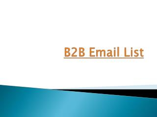 Effective B2B Email Marketing