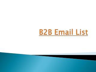 Effective B2B Email Marketing