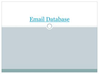 Email Database for Effective marketing