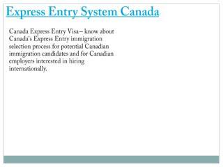 Express Entry Canada Visa