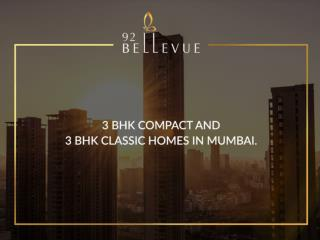 3 BHK Compact and 3 BHK Classic homes in Mumbai.
