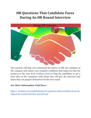 HR Questions That Candidate Faces During An HR Round Interview