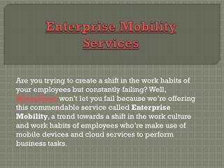 Wintellisys - Enterprise Mobility Management and Services