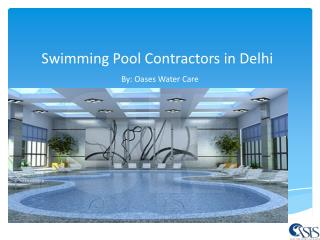 Swimming Pool Contractors in Delhi