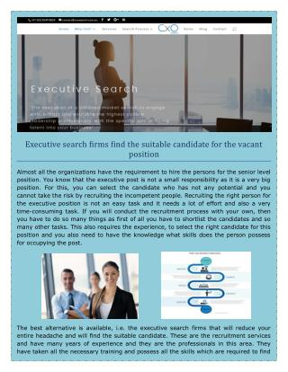 CFO Executive and Recruitment Search Firm in Sydney