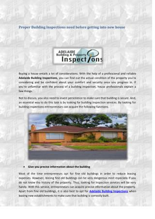 Adelaide Building Inspections