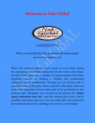 Electrical Repair Service Atlanta, Home Repair Atlanta GA for nakglobal.co.pdf