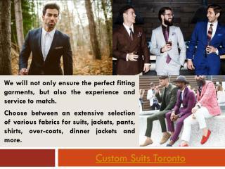 Custom Suits Toronto