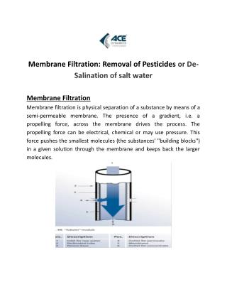 Get Safe & Clean Water from Waste Water Treatment by Membrane Filtration