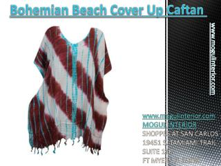 Bohemian beach cover up caftan by mogulinterior
