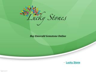 Buy Emerald gemstone online-Luckystone