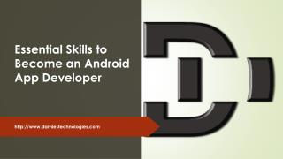 Essential Skills to Become an Android App Developer