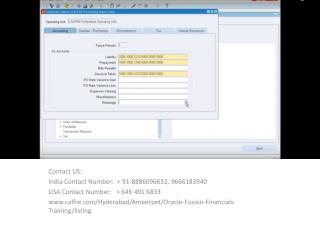 oracle fusion financials training in ameerpet