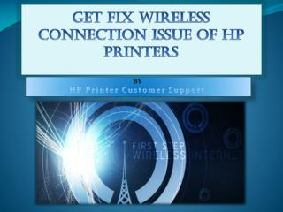 Get Fix Wireless Connection Issue of HP Printers