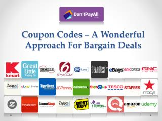 Coupon Codes – A Wonderful Approach For Bargain Deals