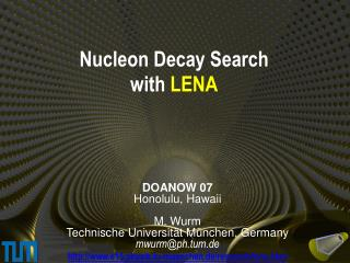 Nucleon Decay Search with LENA