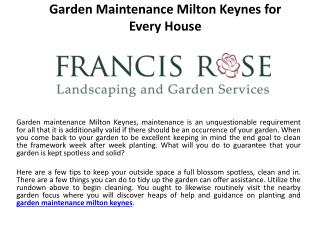 Garden maintenance milton keynes for every house