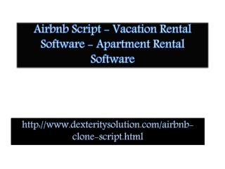 Airbnb Script - Vacation Rental Software - Apartment Rental Software