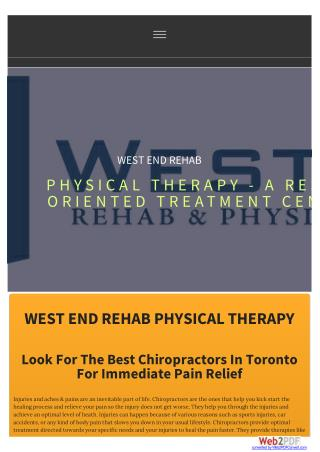 Look for the Best Chiropractors in Toronto for immediate pain relief