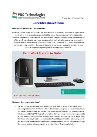 Workstation Rentals in Dubai - Workstation Rent Near to Me in Dubai