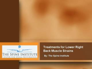 Treatments for Lower Right Back Muscle Strains