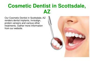 Cosmetic Dentist in Scottsdale, AZ