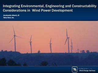 Integrating Environmental, Engineering and Constructability Considerations in  Wind Power Development