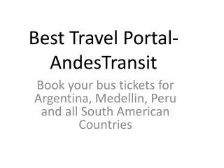 Best Travel Portal- AndesTransit