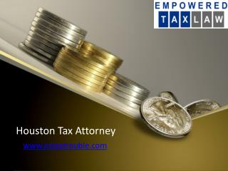 IRS Tax Lawyer Pearland