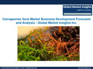 Carrageenan Gum Market Analysis, Trends & Forecast to 2024
