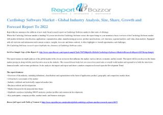 Cardiology Software Market Size, Share, Analysis, Industry Demand and Forecasts Report to 2017