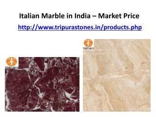 Italian Marble in India – Market Price