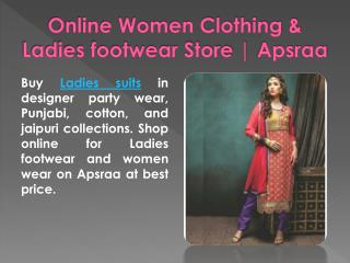 Online Women Clothing & Ladies footwear Store | Apsraa