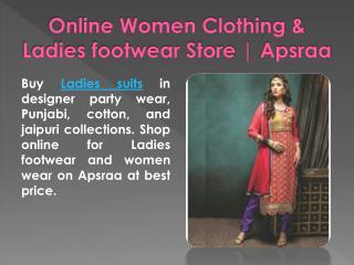 Online Women Clothing & Ladies footwear Store | Apsraa