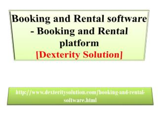Booking and Rental software - Booking and Rental platform