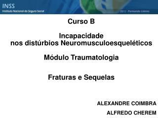 Curso B  Incapacidade  nos dist rbios Neuromusculoesquel ticos  M dulo Traumatologia   Fraturas e Sequelas         ALEXA