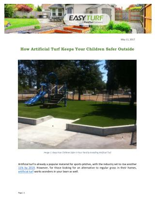 How Artificial Turf Keeps Your Children Safer Outside